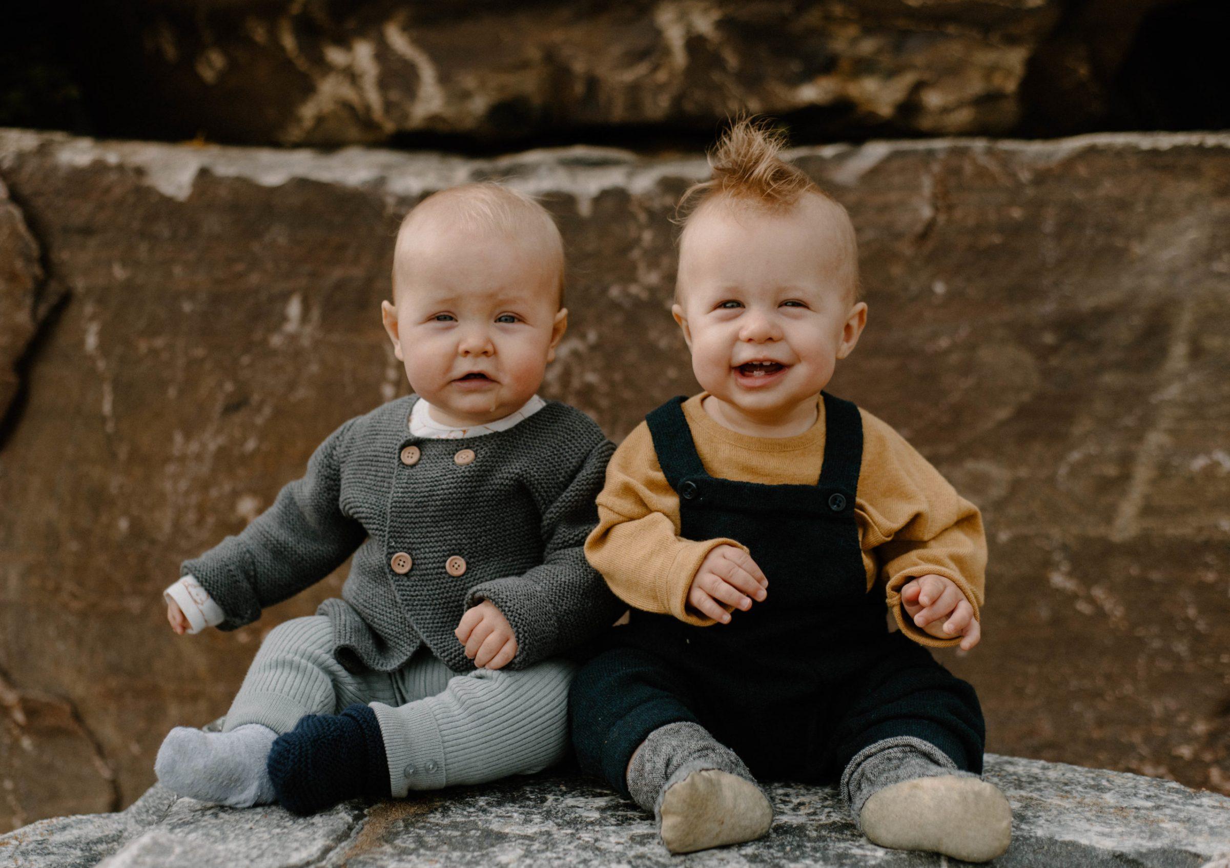 Twin Boys Family Cute | Sam Gaetz Photography