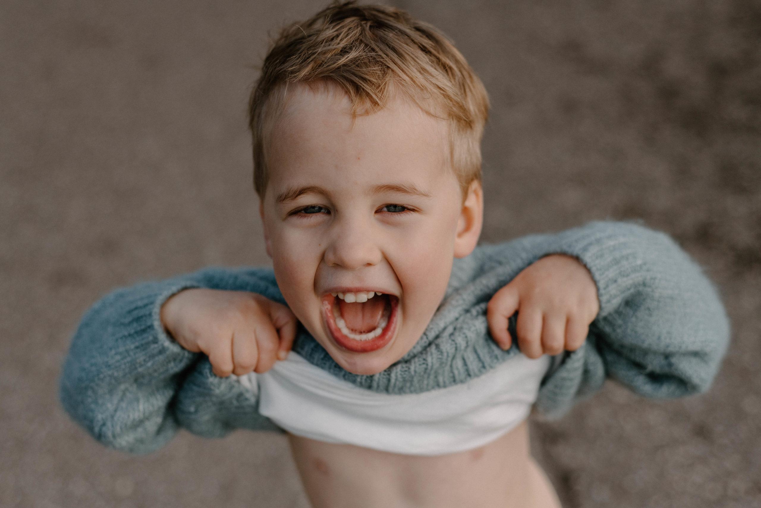 Silly Boy Playful Kid | Sam Gaetz Photography