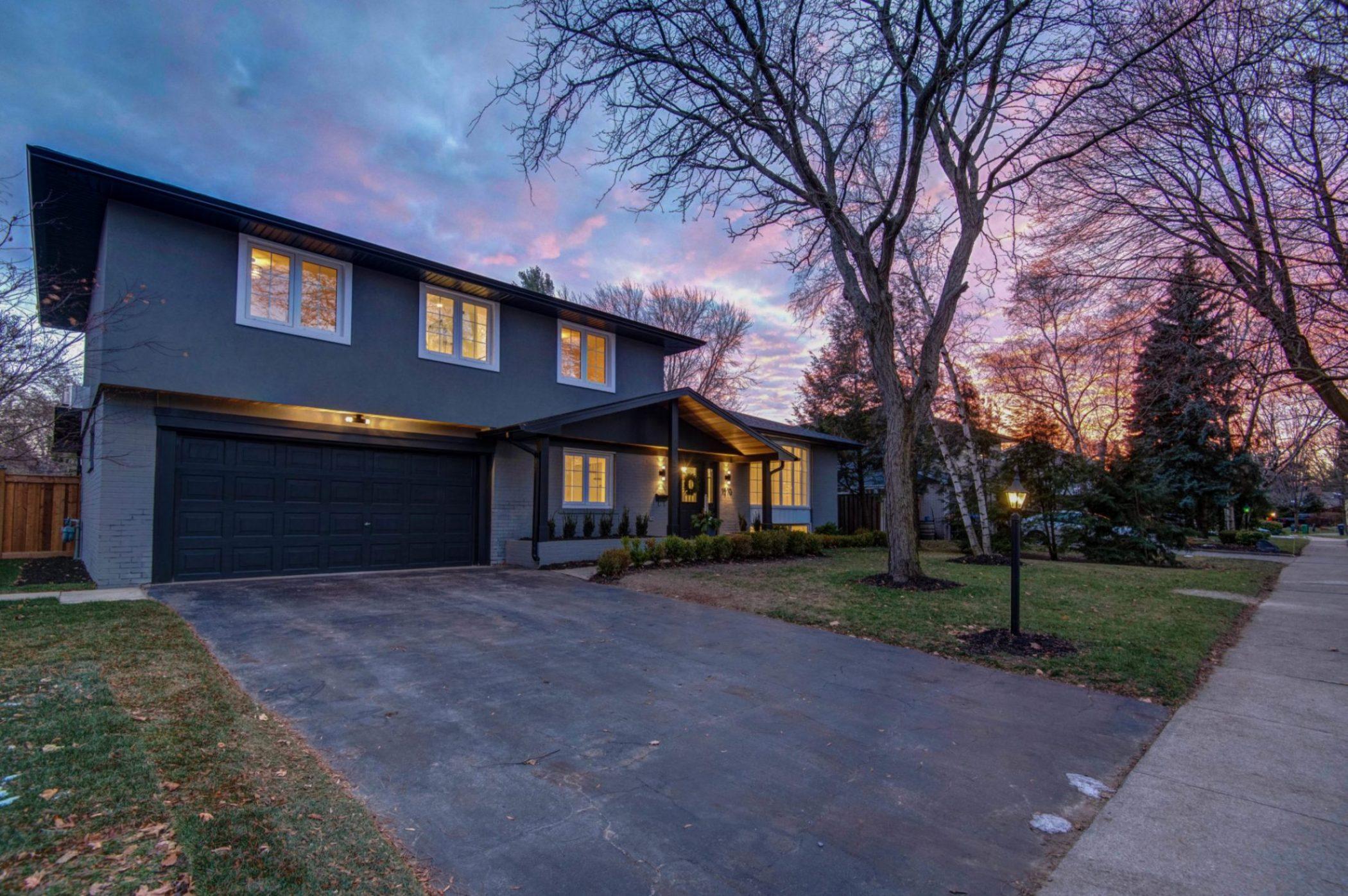 Toronto GTA Sunset Exterior Real Estate | Sam Gaetz Photography